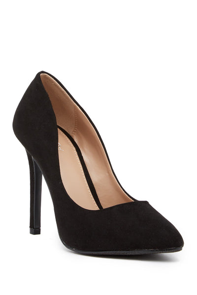 Abound Whitnee Stiletto Heel Pump - Wide Width Available Black Faux Suede 8.5