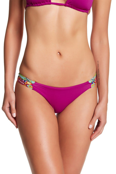 isabella rose Besties Tab Strappy Bikini Bottoms, Aster, Large