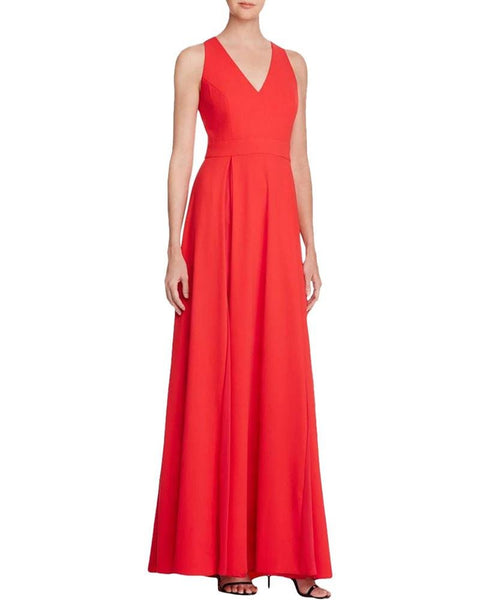 Aqua Women's Evening Dress Crepe Pleated