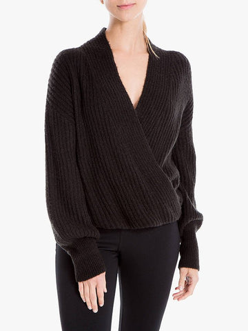 """Max Studio Women Long Sleeve Wrap Jumper 