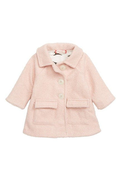 RUBY AND BLOOM Cozy Button Down Jacket (Baby Girls) Pink, 9