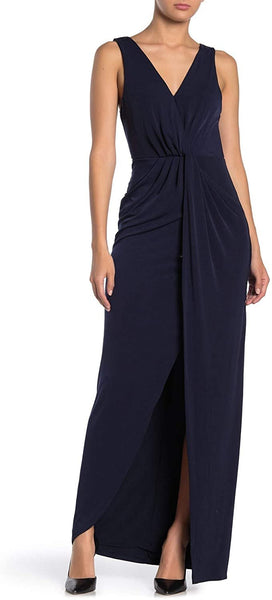 ASTR The Label Twist Front Maxi Dress - Size Medium, Navy