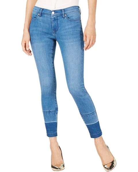 Kendall + Kylie The Ultra Babe Perfect Mid Rise Released Hem Jeans