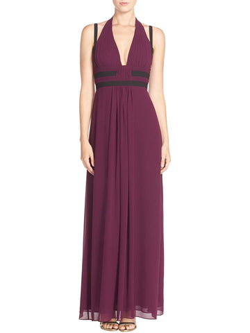 BCBG Max Azria Women's Margarette Chiffon Pleated Evening Dress