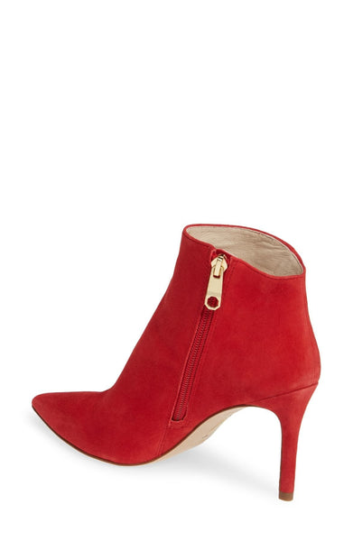 LOUISE ET CIE Sid Pointed Toe Bootie Red 8