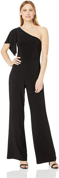 Laundry by Shelli Segal Women Matte Jersey Jumpsuit Black 6