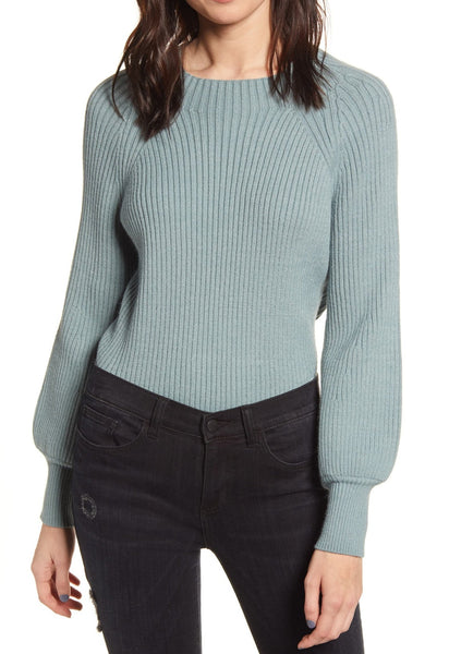 Kirious Women's Ribbed Sweater | Size Medium | Green