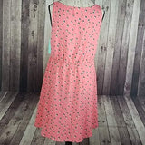 Abound V-Neck Front Button Fit & Flare Dress Pink Large