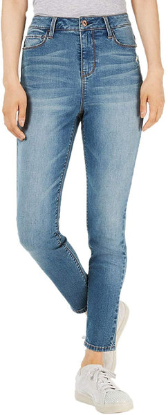 Vanilla Star Juniors' Super High Rise Ripped Skinny Jeans