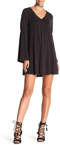 dee elly Bell Sleeve Shift Dress, Charcoal- Small