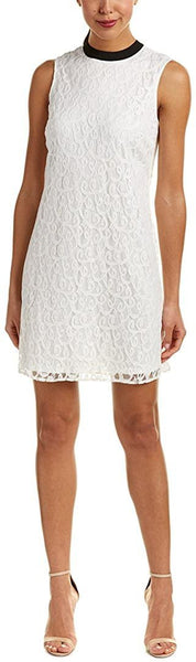 CeCe Women's Tie Back Lace Dress, Size 14 - White