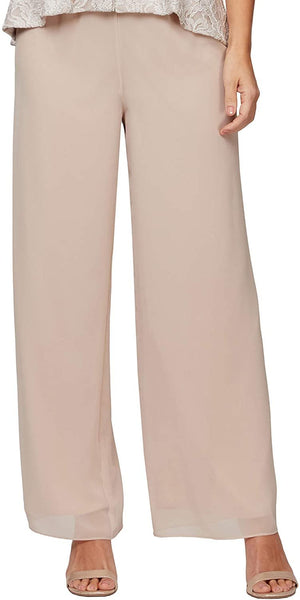 Alex Evenings Womens Basic Pant, Taupe Petite, X-Large