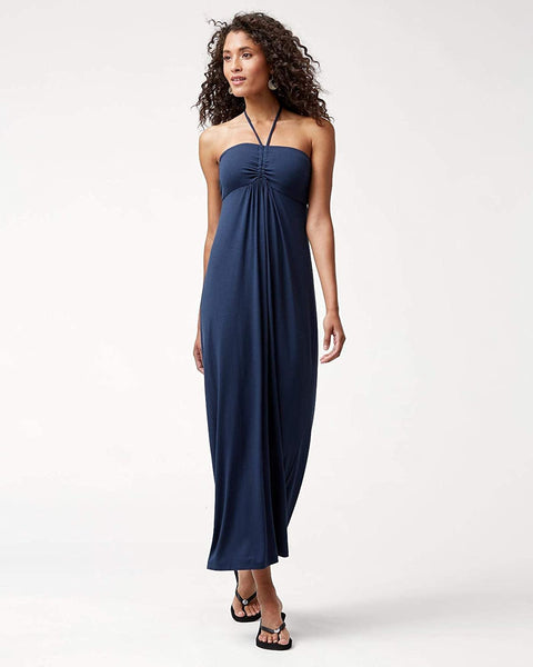Tambour Women's Maxi Dress, Size Large - Blue
