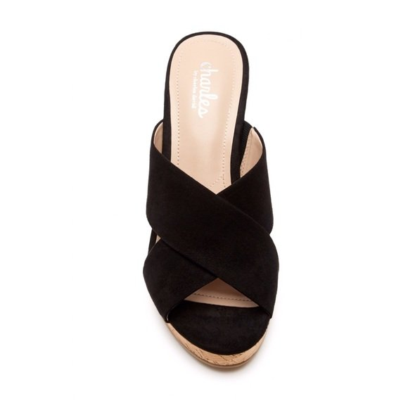 CharlesBy Charles David Latrice Wedge Mule - Size 12, Black