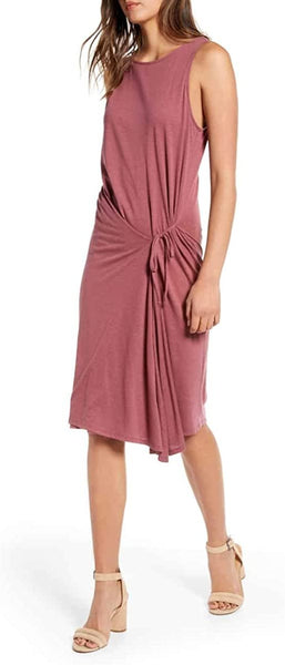Chelsea28 Women's Asymmetrical Tank Dress, Size Small - Burgundy