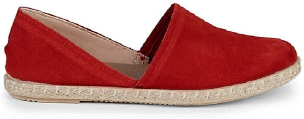 Saks Fifth Avenue Women's Suede Espadrille Flats - Size 6, Red