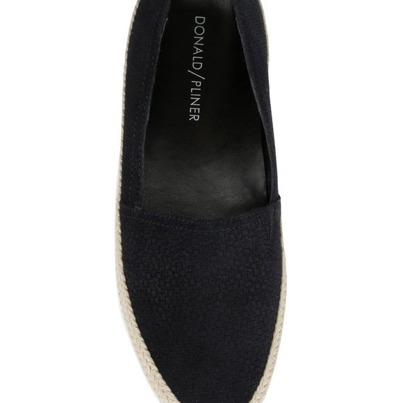 Donald Pliner Perci Casual Slip-On Espadrille Flat, Black, Size 7