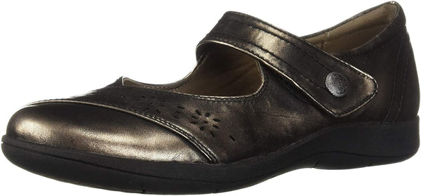 Rockport Women Daisey Mary Jane Flat, Pewter, 7