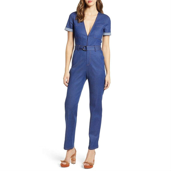 Tiger Mist Women's Phillipa Denim Jumpsuit - Sze Small, Blue