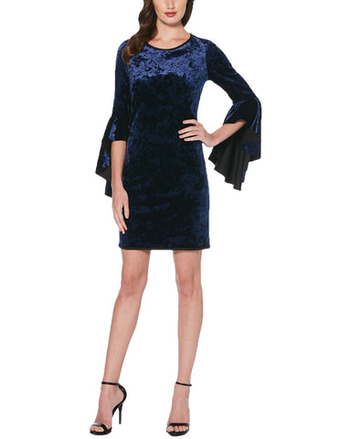 Laundry by Shelli Segal Reversible Bell Sleeve Velvet Dress
