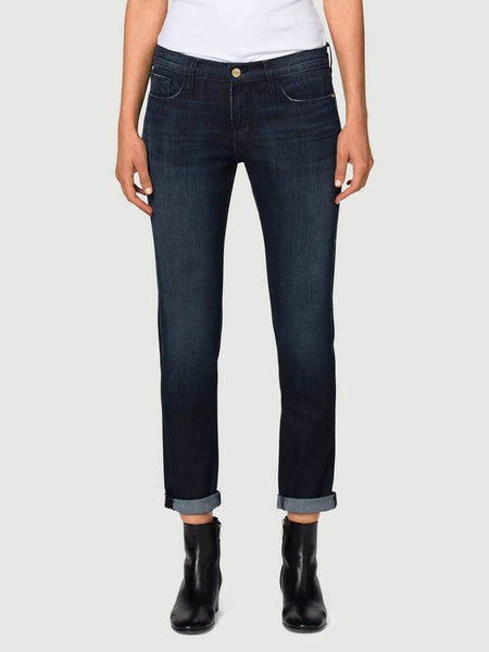 Frame Le Garcon River Road Womens Denim Jeans Straight, Blue, 24