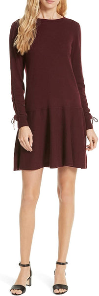 Autumn Cashmere Women's Drop Waist Cashmere Dress, Size Medium - Red