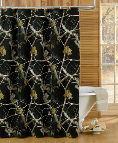 AP Black Camo Shower Curtain