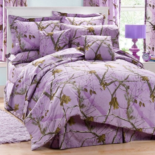 AP Lavender Camo Square Pillow