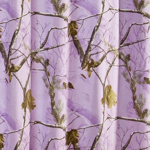 AP Lavender Camo Shower Curtain