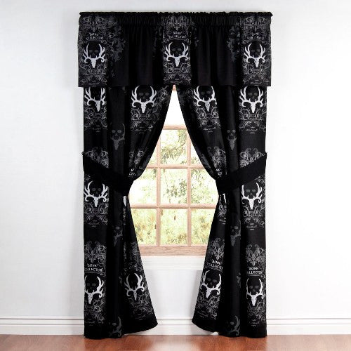 Bone Collector Black Window Treatments