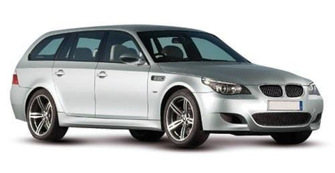 BMW 5 Series Estate 2003 to 2007 Front Bumper With Sensor Holes - Primed  (Not M5 or M-Sport Models)