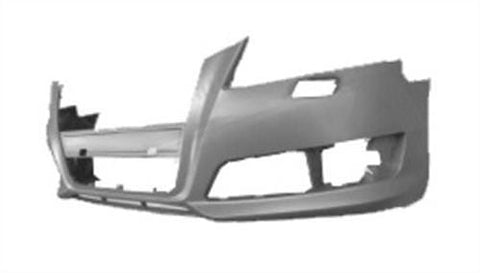 Audi A3 3 Door Hatchback  2008-2012 Front Bumper With Wash Jet Holes - No Sensor Holes - Primed (Standard Models)