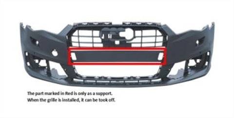 Audi A6 Saloon  2014-2018 Front Bumper With Wash Jet Holes - With Sensor Holes - Primed (Standard Models)