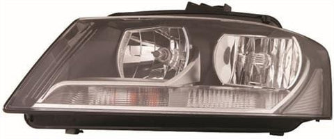 Audi A3 Cabriolet  2008-2013 Headlamp Halogen Type Passenger Side L