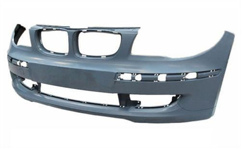 BMW 1 Series 3 Door Hatchback  2007-2011 Front Bumper No Wash Jet Holes - Primed (Standard Models)