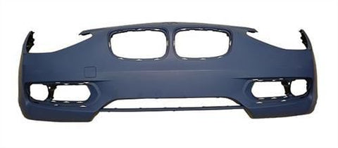 BMW 1 Series 3 Door Hatchback  2012-2015 Front Bumper No Wash Jet Holes or Sensor Holes - Primed (Sport/Urban Models)