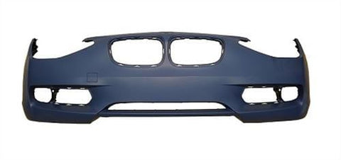 BMW 1 Series 3 Door Hatchback  2012-2015 Front Bumper No Wash Jet Holes or Sensor Holes - Primed (Standard Models)