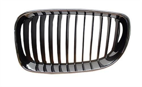 BMW 1 Series 3 Door Hatchback  2007-2011 Front Grille Black Slats With Chrome Surround (Standard Models) Passenger Side L