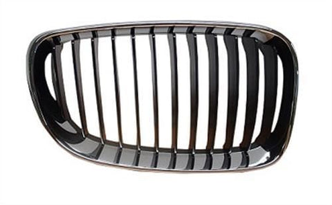 BMW 1 Series 3 Door Hatchback  2007-2011 Front Grille Black Slats With Chrome Surround (Standard Models) Driver Side R