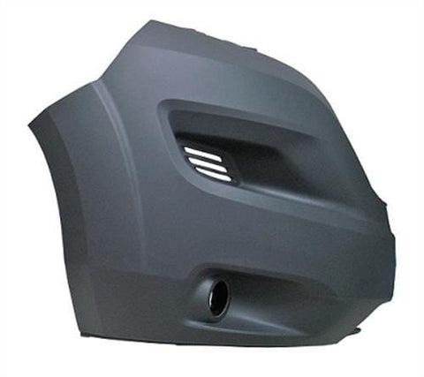 Citroen Relay Van 2014- Front Bumper Corner With Lamp Holes - Grey (No Wheel Arch Extension) Driver Side R