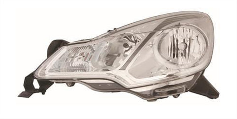 DS 3 Hatchback  2010-2016 Headlamp Halogen Type - With Grey Trim Passenger Side L