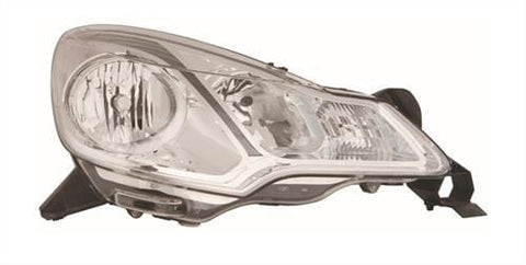 DS 3 Hatchback  2010-2016 Headlamp Halogen Type - With Grey Trim Driver Side R