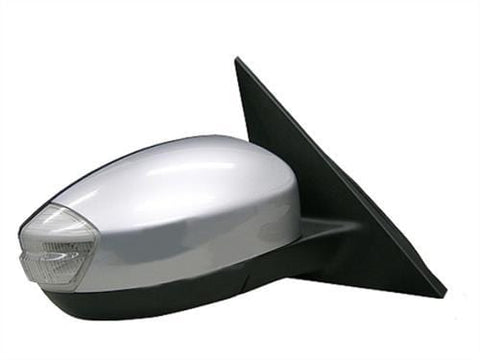 Ford Galaxy MPV 2006-2010 Door Mirror Electric Heated Manual Fold Type With Primed Cover (With Foot Lamp - 12 Pin) Driver Side R