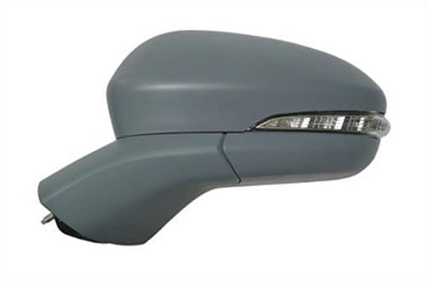 Ford Mondeo Hatchback  2015- Door Mirror Electric Heated Power Fold Type With Primed Cover (With Foot Lamp - No Memory) Passenger Side L