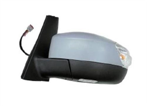 Ford C-Max MPV 2015-2019 Door Mirror Electric Heated Power Fold Type With Primed Cover (With Foot Lamp & Lane Assist) Passenger Side L