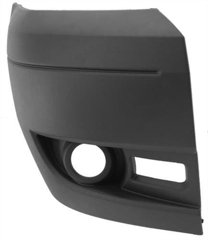 Ford Transit Van 2006-2014 Front Bumper Corner With Lamp Hole - Dark Grey Driver Side R