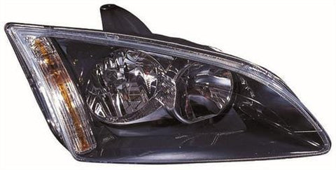 Ford Focus 3 Door Hatchback  2005-2007 Headlamp Halogen Black Type (Not Cornering Type) Driver Side R