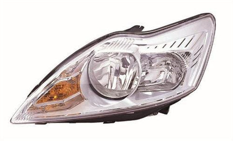 Ford Focus Saloon  2008-2011 Headlamp Halogen Chrome Type (No Advanced Lighting) Passenger Side L