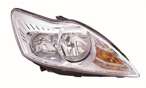 Ford Focus Cabriolet  2008-2011 Headlamp Halogen Chrome Type (No Advanced Lighting) Driver Side R