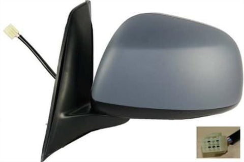 Fiat Sedici Hatchback 2009-2011 Door Mirror Electric Type With Primed Cover (5 Pin) Passenger Side L